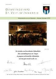 G EMEINDEIN FO S T . V EITIM I NNKREIS - Gemeinde St. Veit ...