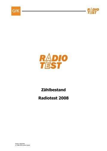 Zählbestand Radiotest 2008 - RMS - Austria