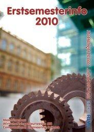 Erstsemesterinfo 2010 - Fachschaft Maschinenbau