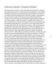Polizeimuseum Düsseldorf – Transparenz und Schatten ...