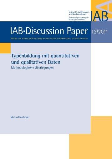 Typenbildung mit quantitativen und qualitativen Daten - iab