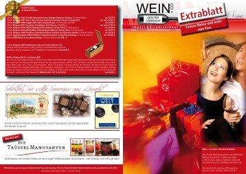 Angebote Extrablatt zum Fest 12 - Wein Confiserie Kremer