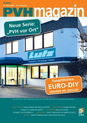 Ausgabe 5 / 2012 - E/D/E Einkaufsbüro Deutscher Eisenhändler ...