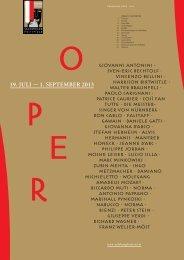 Jahresprogramm Oper 2013 - Salzburger Festspiele