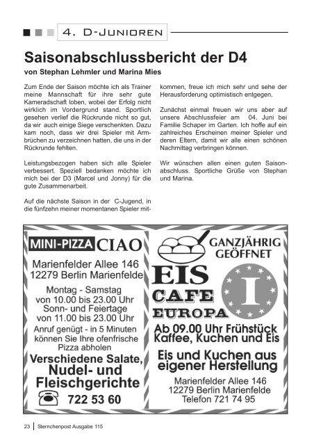 Sternchenpost Ausgabe 115 - FC Stern Marienfelde e.V.