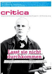 PDF-Download Critica Nr. 3 / 2009 - Die Linke.SDS