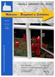 Gemeindebrief 2011 06 November Dezember - Kirchengemeinde ...