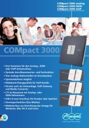 COMpact 3000 analog ISDN VoIP