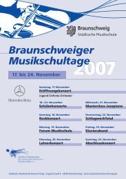 Braunschweiger Musikschultage - Stadt Braunschweig