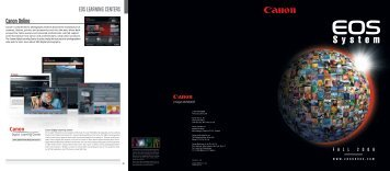 EOS LEARNING CENTERS Canon Online - Canon USA, Inc.