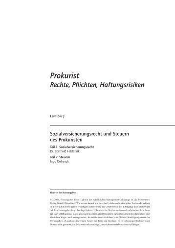 Prokurist - Fides Treuhandgesellschaft KG