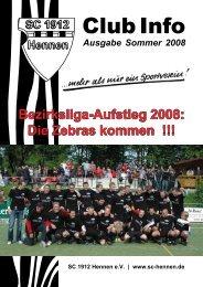 Club Info Ausgabe Sommer 2008 (PDF-Datei, ca - beim SC 1912 ...