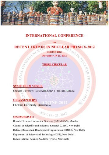 international conference recent trends in nuclear physics-2012