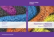 Materials Annual Report - Friends of Imperial College