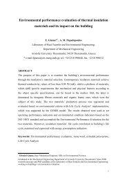 Environmental performance evaluation of thermal insulation ... - Fibran