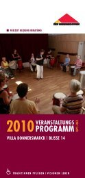 2010 - Fürst Donnersmarck Stiftung