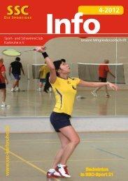 SSC Info 4-2012 - Sport und Schwimmclub Karlsruhe eV