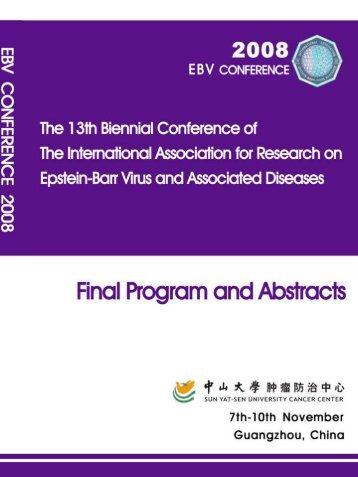 EBV Conference 2008 Guangzhou - Baylor College of Medicine