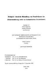 Biologisch-chemische Behandlung von Prozeßwässern der ... - Gtz