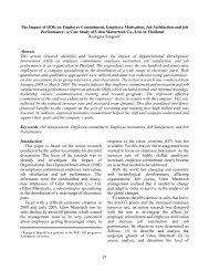 Impact of organizational development interventions on employee