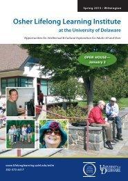 NEW! - Osher Lifelong Learning - University of Delaware