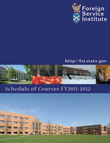 2010 Schedule of Courses - FSI Training Services - US Department ...