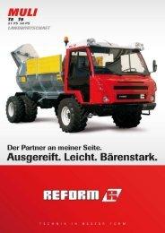Muli T8/T9 Landwirtschaft - Landtechnik Rietzler