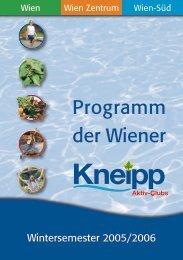 Programm der Wiener - dr. alexander meng