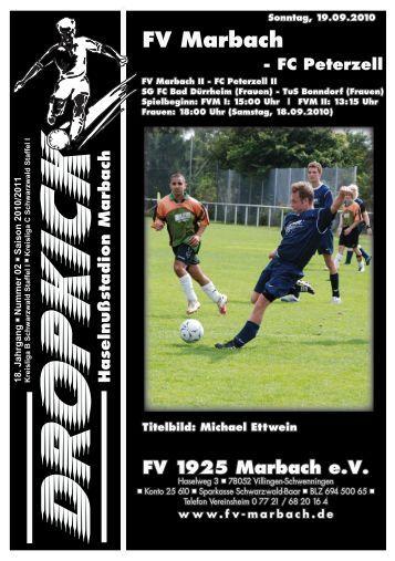 FV Marbach - FC Peterzell - FV 1925 Marbach e.V.