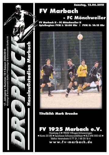 FV Marbach - FC Mönchweiler - FV 1925 Marbach e.V.