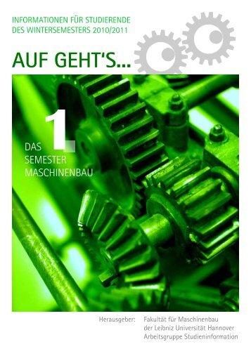 1. Sem. WS 10/11 - Fachschaft Maschinenbau der Leibniz ...