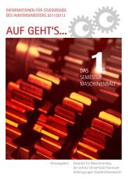 Erstsemesterheft 2011/12 - Fakultät für Maschinenbau - Leibniz ...
