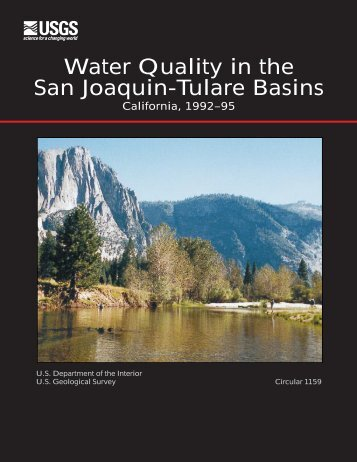 Water Quality in the San Joaquin-Tulare Basins - USGS