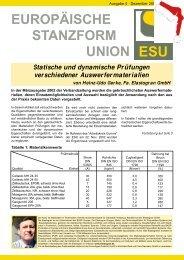 EUROPÄISCHE STANZFORM UNION - ESU