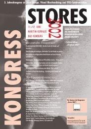 5. Jahreskongress zu Store Design, Visual Merchandising und