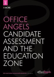 Candidate assessment and The Education Zone guide - Office Angels