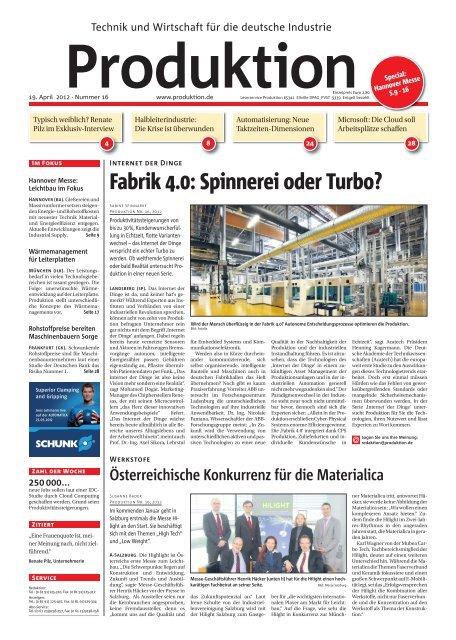 Ausgabe - 16 - 2012 - Produktion