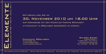 """""""Elemente"""" mit Werken von Thomas Reinhardt am - Finanzamt ..."""