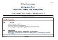 """Zur Sprache.kÉ""""m Deutsch als Fremd- und Zweitsprache"""