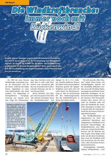 Immer noch mit Rückenwind! - KM-Verlags GmbH