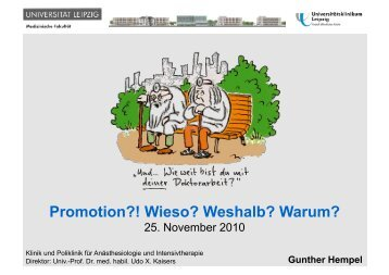 Promotion?! Wieso? Weshalb? Warum? - Leipzig-Medizin.de
