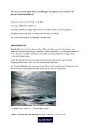 Neue Ausstellung im Finanzamt Böblingen: