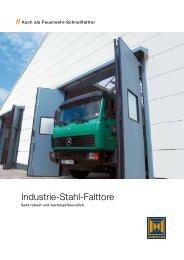 Industrie Stahl Falttore