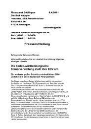 Die baden-württembergische Steuerverwaltung stellt ihre EDV um
