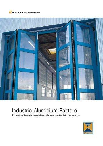 Industrie Aluminium Falttore