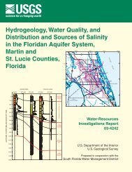Hydrogeology, Water Quality, and Distribution and Sources of - USGS
