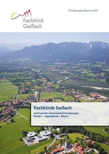 Klinikbroschüre der Fachklinik Gaißach (PDF, 1MB, Datei ist