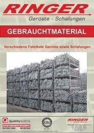 Gebrauchtmaterial RICHTIG.cdr - Ringer KG