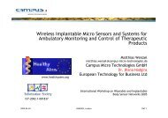 Wireless Implantable Micro Sensors and Systems for ... - Healthy Aims