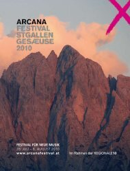 Arcana Festival Programmbuch - Regionale10